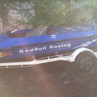 Boat for sale. R40000 150 hp Mercury Black Max with electric trim and tilt, powers